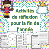 Fin d'année - Réflexion (Distance Learning)