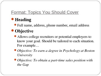 Resumes PowerPoint Presentation