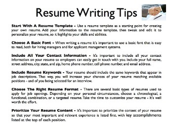 Resumes Powerpoint By Sunny Side Up Resources Teachers Pay Teachers