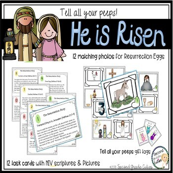 Resurrection Easter Egg Activity, Task Cards, timeline and review