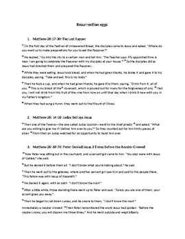 photograph relating to Resurrection Eggs Printable called Resurrection Eggs Worksheets Schooling Products TpT
