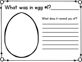 Resurrection Eggs Response Sheets