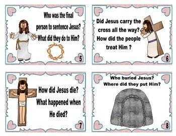 Resurrection of Jesus Task Cards Freebie