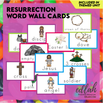Resurrection/Easter Word Wall Cards (set of 7)