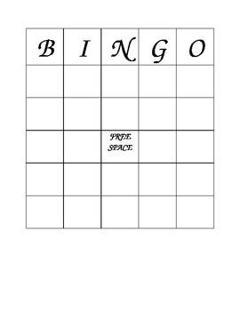 Retail Bingo Vocabulary Game
