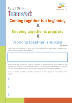 Retail Skills Workbook Series 4 - Teamwork