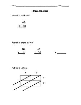 Reteach 2-Digit by 2-Digit Multiplication: 3 Methods to Choose From