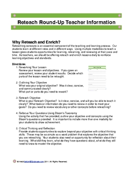 Reteach RoundUp and Enrich Rodeo