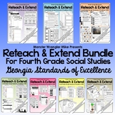 Reteach and Extend: Bundle - 4th Grade Social Studies Activities
