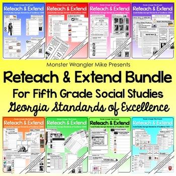 Reteach and Extend: Bundle - 5th Grade Social Studies Activities