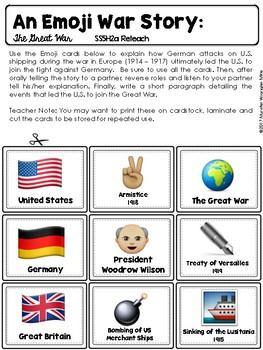Reteach and Extend: SS5H2 U.S. Involvement in World War I