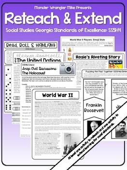 Reteach and Extend: SS5H4 America's Involvement in World War II