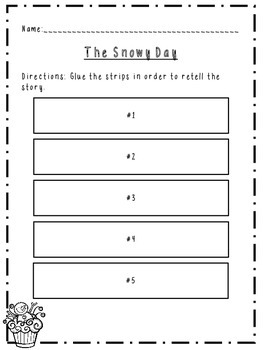 Retell Activity for The Snowy Day