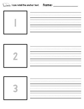 Retell Anchor Text - Journey's Unit 5 Bundle