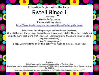 Retell Bingo: Set 1