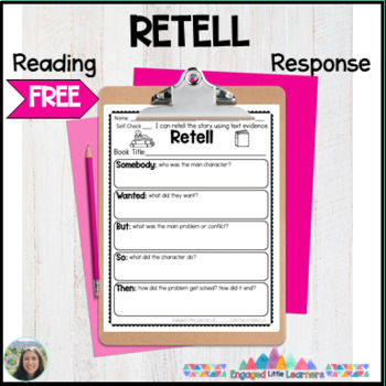 Retell FREEBIE : Reading Response Graphic Organizer : 2 Versions