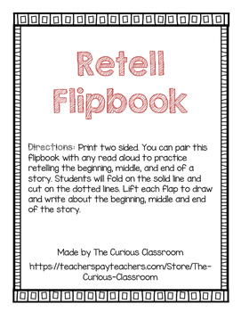 Retell Flipbook: Beginning, Middle, and End