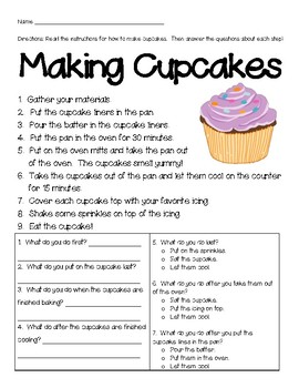 Retell (How-to): Making Cupcakes