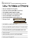 Retell (How-to): Making S'mores