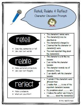 Retell, Relate, Reflect - Guiding Written and Verbal Responses