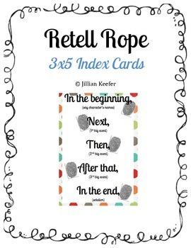 Retell Rope Index Cards (3x5)