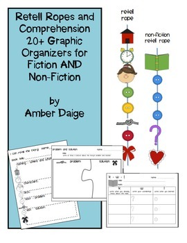 Non-Fiction and Fiction Retell Rope and Comprehension Graphic Organizers
