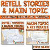 Retell Stories RL1.2 AND Main Topic RI.1.2 BUNDLE
