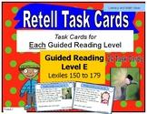 Retell Task Cards:  Guided Reading Level E (Lexiles 150-179)