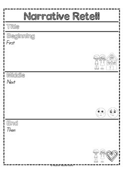 Retell Work for Narrative and Non-Fiction Texts Grade 1-2