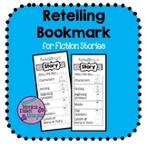 Retell a Story Bookmark Black & White