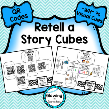 """Retell a Story Cubes with QR Codes and """"WH"""" Questions"""
