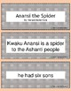 Retell and Sequencing Cards: Anansi The Spider