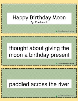 Retell and Sequencing Cards: Happy Birthday Moon - First or Second Grade