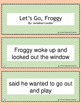 Retell and Sequencing Cards: Let's Go Froggy!