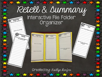 Retell and Summary - Interactive Graphic Organizer