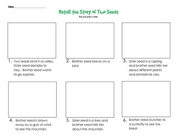 Retell the Story of Two Seeds - FREEBIE