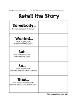 Retell with 5 Points of a Story