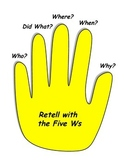 Retell with the 5 Ws - mini poster