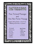 Retelling -4 Fictional Passages & 1 Nonfiction Text: Retelling Posters Included