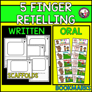 Retelling! 5 Finger! Scaffolds & Support! K-2 Intervention or Extension!
