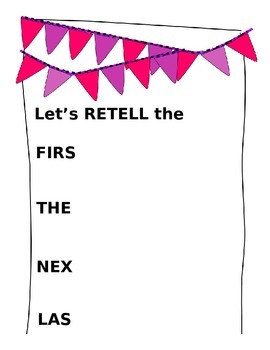 Retelling Anchor Chart