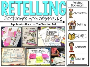 Retelling Bookmark and Organizers