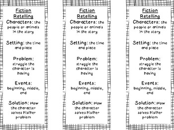Retelling Bookmarks