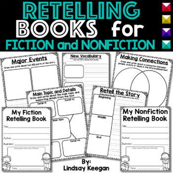 Retelling Books for Fiction and Nonfiction Text  - Common Core Aligned