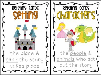 """Retelling Cards + Interactive Notebook """"Story Parts"""" Activity"""