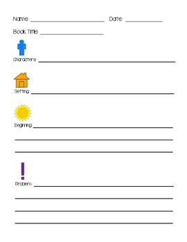 Retelling Chain, Bookmarks and Response Sheet