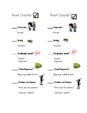 Retelling Checklist & Book Mark