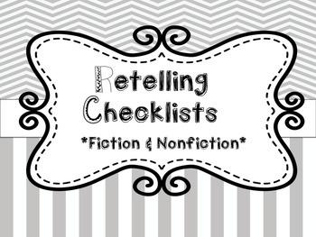 Retelling Checklists for Students: Fiction & Nonfiction