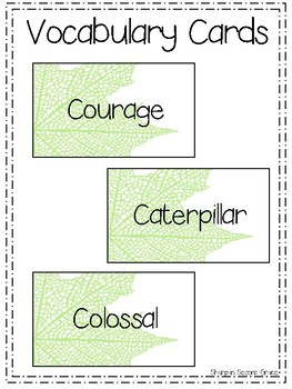 Retell & Sequencing: Clara Caterpillar Worksheets/Poster