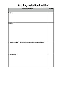 Retelling Evaluation Guideline